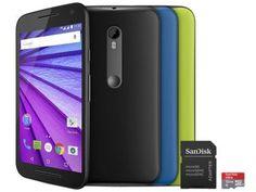 Smartphone Motorola Moto G 3° Geração Colors HDTV - 16GB Dual Chip 4G Câm. 13MP + Cartão 32GB com as melhores condições você encontra no Magazine Jbtekinformatica. Confira!