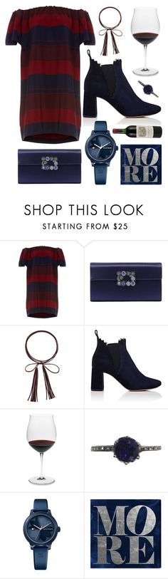 """Tristen"" by goingdigi on Polyvore featuring Roger Vivier, GUESS, Chloé, Riedel, Tommy Hilfiger and Oliver Gal Artist Co."