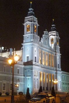 Madrid Cathedral at night