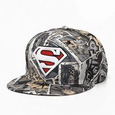 New Fashion Superman Snap Back Snapback Caps Hat Cool Adjustable Gorras  Super Man Hip Hop Baseball Cap Hats For Men Women 766303fed602