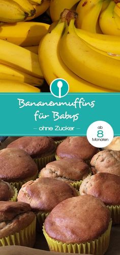 Banana muffins for babies and toddlers (without sugar) from 8 months - Healthy sugar-free muffins for babies. Healthy sugar-free muffins for babies. Baby Muffins, Sugar Free Muffins, Healthy Sugar, Healthy Drinks, Dinner Healthy, Healthy Kids, Toddler Meals, Kids Meals, Muffins Sains