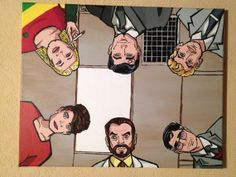 Archer Fan Artwork 16x20 acrylic on stretched by RaysPaintings, $100.00