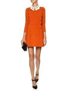 Orange Scalloped Martedi Dress Vivetta