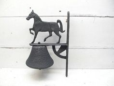 Vintage Horse Bell  Porch Bell or General Store Bell  Barn