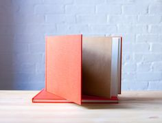 Large Horizontal Coral Hardcover Notebook  Sketchbook by knotbooks