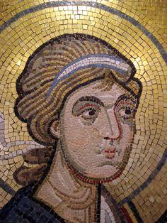 Copy of Byzantine mosaic in Byzantine Museum shop, Athens, Greece. Photo: Helen Miles Mosaics
