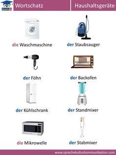 """Deutsch lernen: Wortschatz """"Haushaltsgeräte"""""""