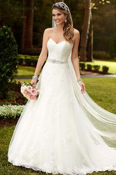 Satin A-Line Princess Wedding Dress. Stella York knows how to design a dress :)