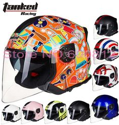 72.80$  Buy now - http://alit7i.worldwells.pw/go.php?t=32702654025 - German Tanked Racing dual lens half face motorcycle helmet ABS motorbike electric bicycle safety helmets T597 removable liner