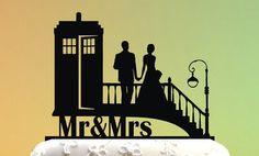 Wedding Cake Topper Cake Topper Tardis Doctor Who Wedding Doctor Who Cake Geek Wedding, Chic Wedding, Dream Wedding, Wedding Dreams, Wedding Stuff, Custom Cake Toppers, Wedding Cake Toppers, Wedding Cakes, Cute Wedding Ideas