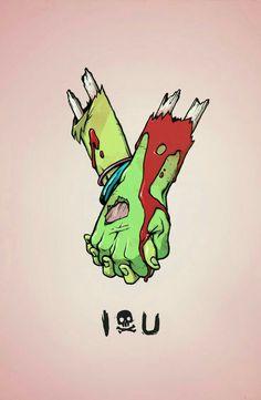 Zombie Art, Cute Zombie, Creepy Cute, Zombie Illustration, Illustration Art, Art Drawings, Zombie Drawings, Zombies, Zombie Wallpaper