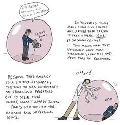 Introvert bubble & bucket