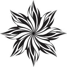 flower pattern black and white - Căutare Google