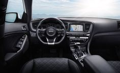 2015 Kia Optima - Picture Gallery, Ads and Commercial Videos Inver Grove Heights, Lease Specials, Mid Size Sedan, Lease Deals, Ad Car, Kia Optima, Car Finance, Dashboard Design, Interior Photo