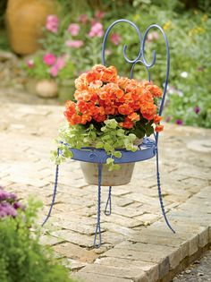 Chair Pot Holder - Chair Shaped Holder for Potted Flowers