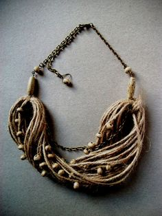 driftwood...statement necklace natural rope wood by nettlefield, $20.00