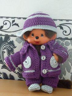 Puppenkleidung - Kleidung für Monchhichi Gr. 20 cm - ein Designerstück von Gina-Emma bei DaWanda