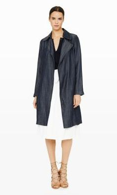 Dagny Denim Trench - Club Monaco Trenches - Club Monaco