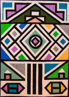 inspiration-ndebele-2016-13 Pattern Images, Pattern Art, Pattern Design, African Artwork, African Prints, Unalome, Afro Art, Afrikaans, Sacred Geometry