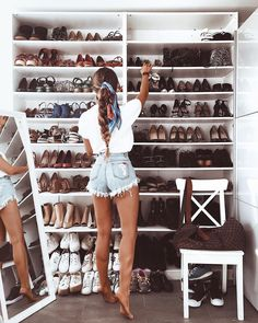 """21.8k Likes, 550 Comments - Michèle Krüsi (@thefashionfraction) on Instagram: """"this is what happens when there's an image in your bedroom saying 'life is short, buy the shoes'"""""""