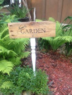 Brilliant idea for garden signs #garden #pallet #ideas - click pic for ideas