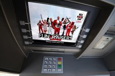 Red Nose Day national campaign on ATM's (UK)