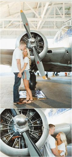 airplane engagement photos