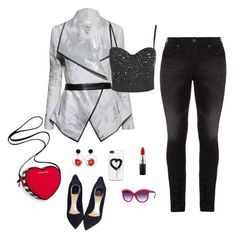 """""""Hot chick"""" by humblechick1 ❤ liked on Polyvore featuring Topshop, Christian Dior, Victoria's Secret, Silver Jeans Co., Marni, MAC Cosmetics, Zero Gravity, Italia Independent, women's clothing and women"""