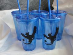 Toothless How to Train your Dragon inspired double walled tumbler(blue, orange, red) with lid and straw. Add customized name for $2 more! If you would