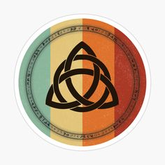 A beautiful celtic knot on a colored circle. This design is also available on many other items such as t-shirts, masks, clocks, aprons, notebooks and many more Celtic Knot, Aprons, Glossier Stickers, Notebooks, Clocks, Knots, Magnets, Masks, Shirts