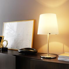 Buy online By fontanaarte, table lamp with dimmer, 3247 Collection Loft Interior, Glass Diffuser, Diffused Light, Opaline, Bulb, Flooring, Contemporary, Lighting, Archive