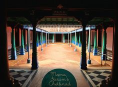 Meena Sriram's passion for Chettinad Architechture and photography is amply evident in her work. So when she sent me her photography li. India Architecture, Vernacular Architecture, Chettinad House, Civil Engineering Design, Indian Home Interior, Village House Design, House Photography, Indian Homes, Courtyard House