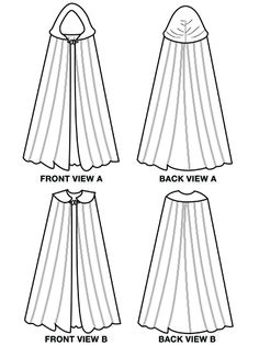 Free Hooded Cape Pattern | Islander Sewing Systems 205 The Ultimate Kinsale Cloak Line Drawing
