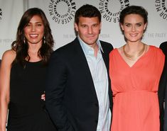 David Boreanaz Photos Photos - (L-R) Actors Michaela Conlin, David Boreanaz and…