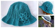 This hat isso glamorous and flattering. It adds a great visual element to nearly any outfit. You will have an eye-catcher and a sure-fire way to stand out from the crowd. The Ridge Sun Hat Free Crochet Pattern is easy to follow.
