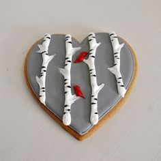 Valentines Cookie Lovebird Twigg Hand Decorated Sugar Wedding Favors : Decorated Cookies for Winter Bird Cookies, Paint Cookies, Heart Cookies, Flower Cookies, Easter Cookies, Music Cookies, Elephant Cookies, Brownie Cookies, Valentines Day Cookies