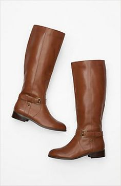 classic leather riding boots by j.jill #LOVEFALL