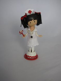 nurse clothespin doll. $25.00, via Etsy.