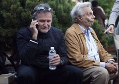 Robin Williams and Mort Sahl attend opening the opening night party of the Mill Valley Film Festival at the Outdoor Art Club in Mill Valley,  California, on Thursday, October 6, 2011. @ Liz Hafalia, The Chronicle