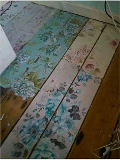 LOVE this as flooring for Shabby Chic bedroom,
