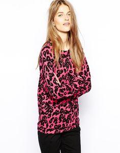 Vila Ceros Leopard Print Sweater