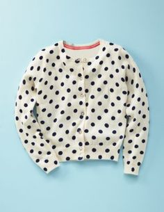 a tiny polka dot sweater for baby girl