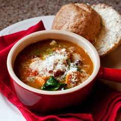 This is my favorite minestrone soup ever! I love the lentils and