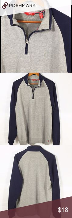 Izod Pullover Sz. XL Nice Gray and navy blue Izod pullover in excellent condition. Size XL Izod Shirts Sweatshirts & Hoodies
