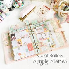 Violet's blog about Planner Stuff..(0:: Ballerina Pink The Reset Girl's Carpe Diem Planner (by Simple Stories)