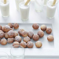 Though dinner is the main course, delicious desserts will ensure your wedding ends on a sweet note. One unexpected option? These nutmeg-dusted beignets served with mini malted milkshakes. Recipe: Beignets  we could have beignets served with coffee to sober people up to drive home