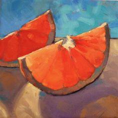 "Daily Paintworks - ""Sunny Morning Orange"" - Original Fine Art for Sale - © Jane Robertson"