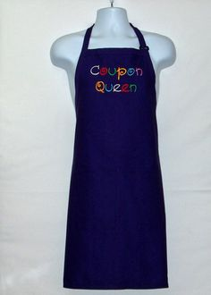 Coupon Queen Apron Coupon Queen Apron Custom Personalized Birthday Gift Wife Boss Friend Sister Grandma Girlfriend With Name Ships Today AGFT 559 First Home Gifts, Gifts For Mum, Mother Day Gifts, Birthday Gift For Wife, Men Birthday, Knitted Baby Cardigan, Coupon Queen, Presents For Women, Personalized Birthday Gifts