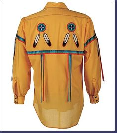 Buckskin ribbon shirt