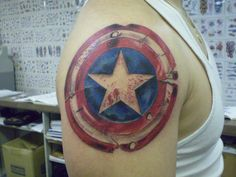 Captain America's Shield by ~chilchix on deviantART...for Chase's next tattoo.